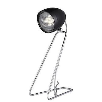 Searchlight 1 Light LED Headlight Desk Lamp In Chrome With Black Head