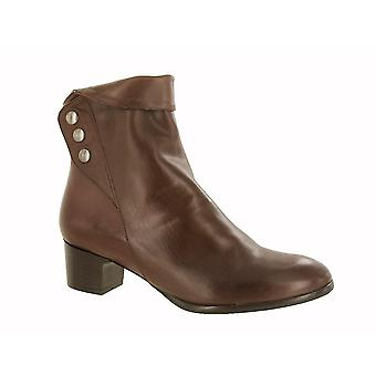 Riva Womens/Ladies New Buttons Leather Ankle Boots