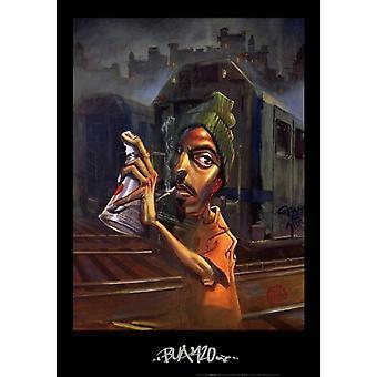 Impression Poster Bua 420 par Justin Bua (24 x 34)
