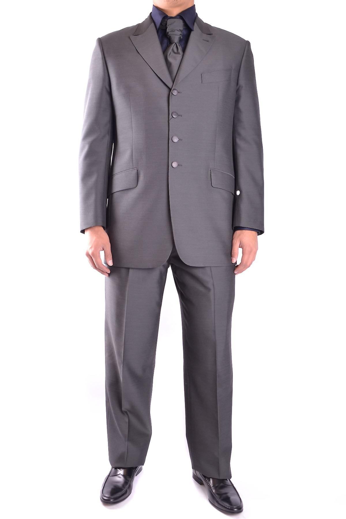 Carlo Pignatelli men's MCBI065003O grey wool suit
