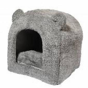 Rosewood 40 Winks Teddy Bear Hooded Cat Bed