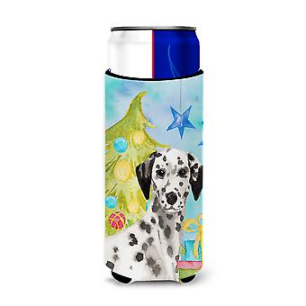Dalmatian Christmas Michelob Ultra Hugger for slim cans
