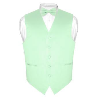 Men's Dress Vest & BowTie Solid Bow Tie Set