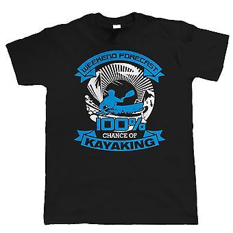 Weekend Forecast Kayaking Mens T Shirt