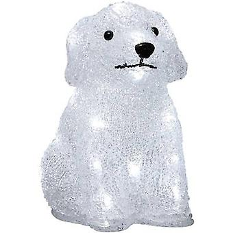 Acrylic figure Puppy Cold white LED Konstsmide 6178-203 White