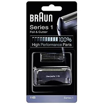 Foil and cutter Braun 11B Kombipack Black 1 Set