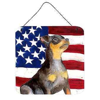 Miniature Pinscher #2 Patriotic Wall or Door Hanging Prints