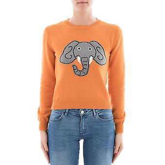 Alberta Ferretti women's 091116021062 Orange cotton sweater