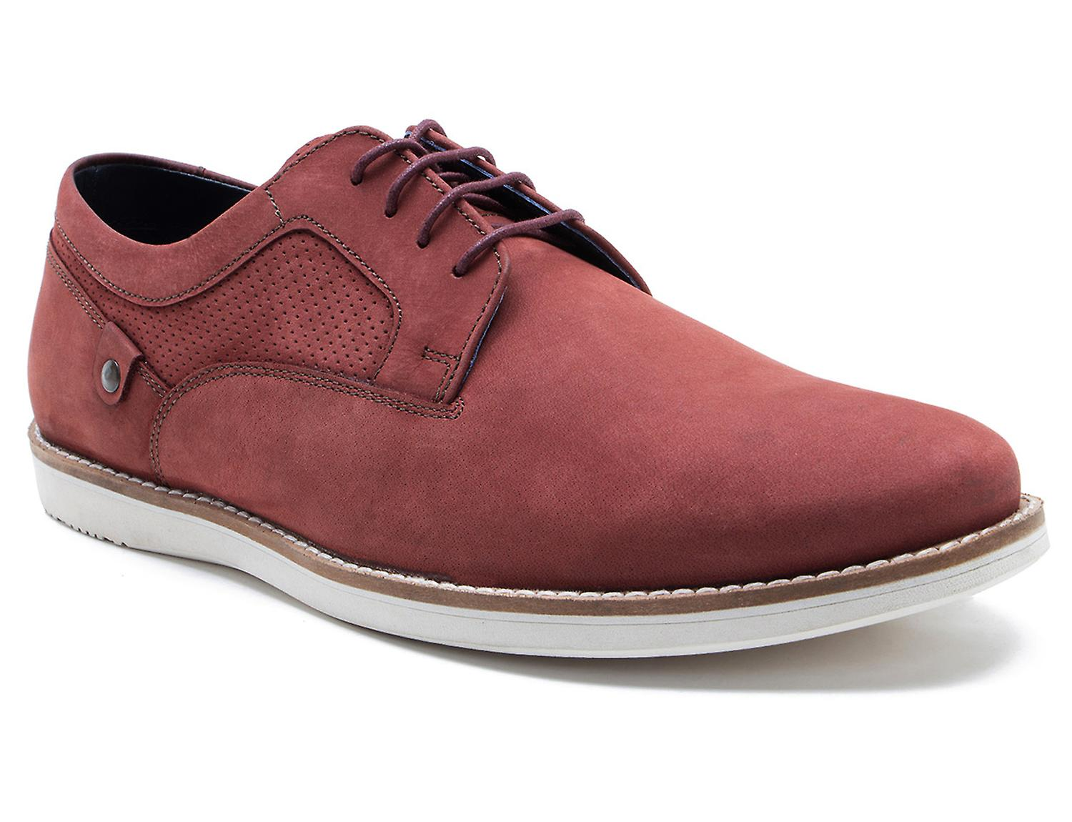 La paperasserie Holker Mens Oxblood Suede Casual chaussures lacées