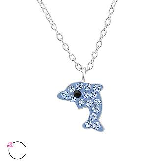 Dolphin crystal from Swarovski® - 925 Sterling Silver Children's Jewellery