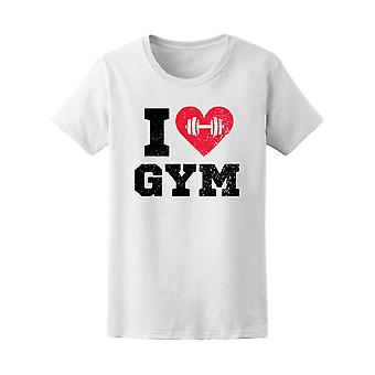 I Love Gym Workout Motivation Women's Tee - Image by Shutterstock