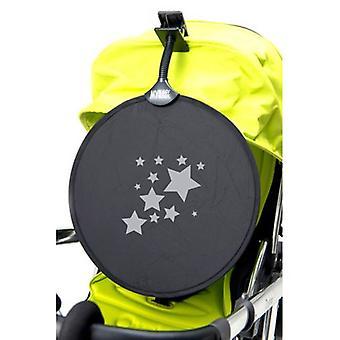 Kolego MyBuggy parasol srebrny-gwiazdkowy Sun Shade klip na samochód ślepy UPF50 +