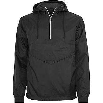 Urban classics - PULL OVER Windbreaker black