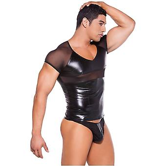 Allure Lingerie AL-26-5602Z Mens Wet Look T-Shirt