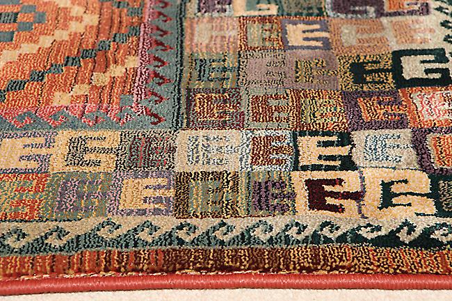 Gabbeh 51/001 C A blend of green, turquoise, rust and brown Runner Rugs Traditional Rugs