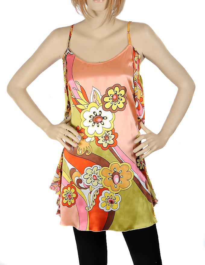 Waooh - Fashion - Little flower design silk dress