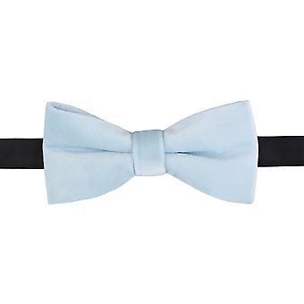 Sky Blue Plain Velvet Pre-Tied Bow Tie