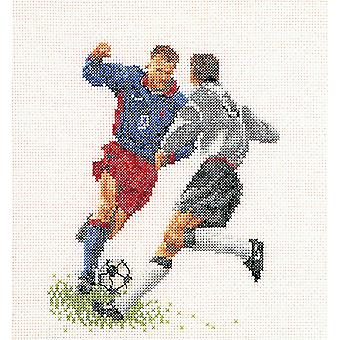 Football (Soccer) On Aida Counted Cross Stitch Kit-6.25