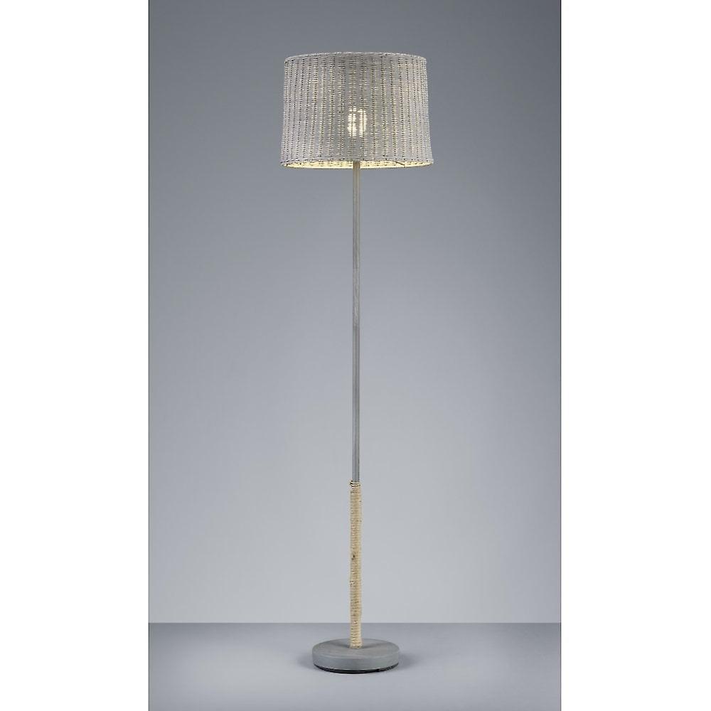 Trio lumièreing rougein Authentic gris Metal Floor Lamp