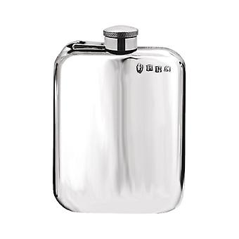 Plain Pewter Purse Flask With Captive Top - 4oz