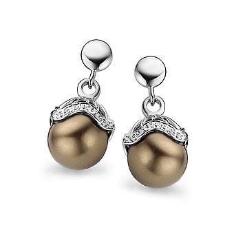 Orphelia argento 925 orecchini conchiglia perle bronzo ZO-5028