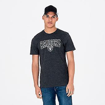 Neue Ära Team Apparel T-Shirt ~ Oakland Raiders Skript
