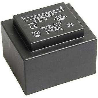 PCB mount transformer 1 x 230 V 2 x 4.50 V AC 4.80 VA 533 mA