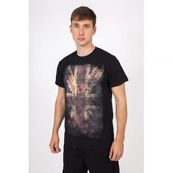 Union Jack Wear New Season Designer Union Jack T Shirt - Black