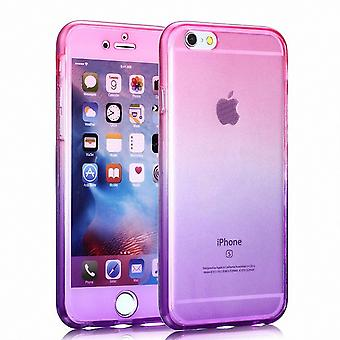 Crystal case cover for Motorola Moto X play Pink Purple full body
