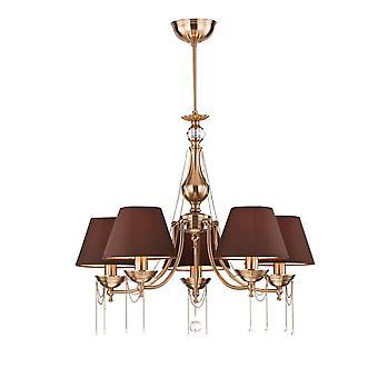 Maytoni illuminazione Chester Royal classico lampadario, in ottone