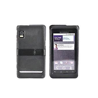 Motorola Droid 2 A955 Snap-On Case met Kickstand (zwart) (Bulk verpakking)