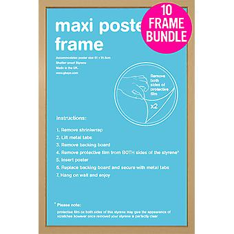 GB Posters 10 Poster Maxi Carvalho quadros 61x91.5cm Bundle