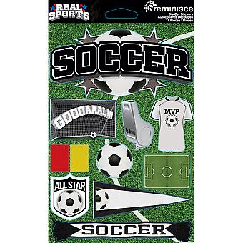 Real Sports Dimensional Cardstock Stickers-Soccer