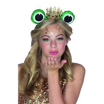 Frog King hair mature with frog eyes and Crown accessory Carnival fairy tale