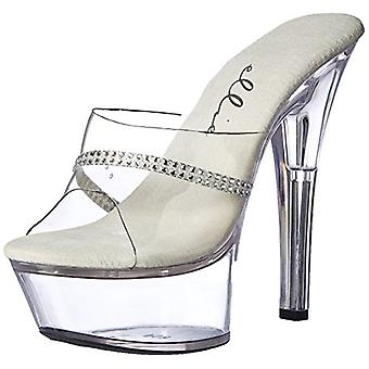 Ellie Shoes Women's 601-Jesse Platform Sandal, Clear, 10 M US