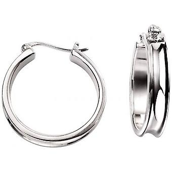 Beginnings Concave Hoop Earrings - Silver
