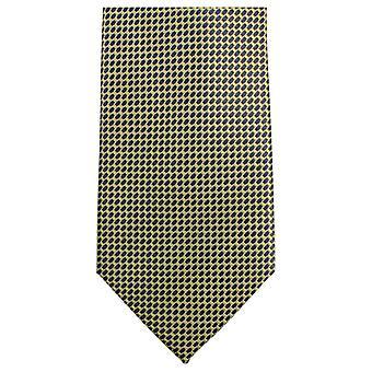 Knightsbridge Neckwear Small Pattern Tie - Yellow/Black