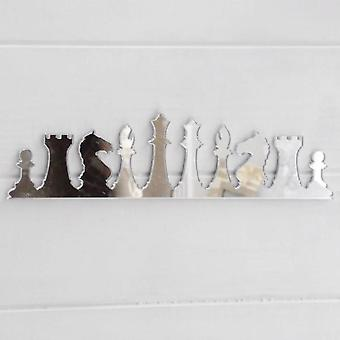 Chess Pieces Row Acrylic Mirror