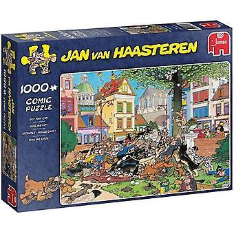 Jumbo puzzel JvH vang die kat 1000pc