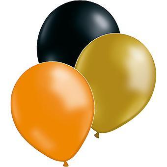 Ballonnen mix goud/oranje/zwart 27-pack