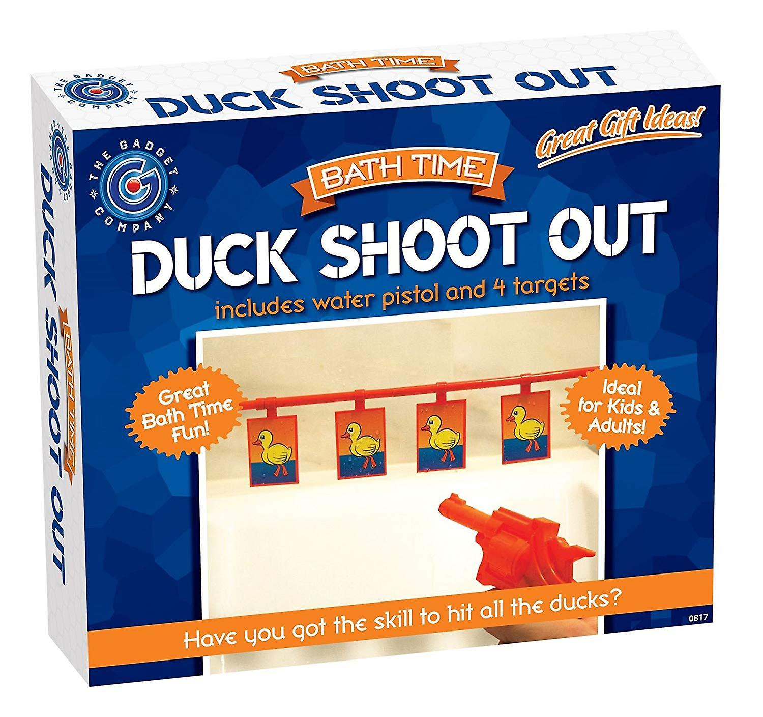 Bathtime Water Pistol Duck Shoot Out Shower Bathroom Novelty Fun Play Game Gift