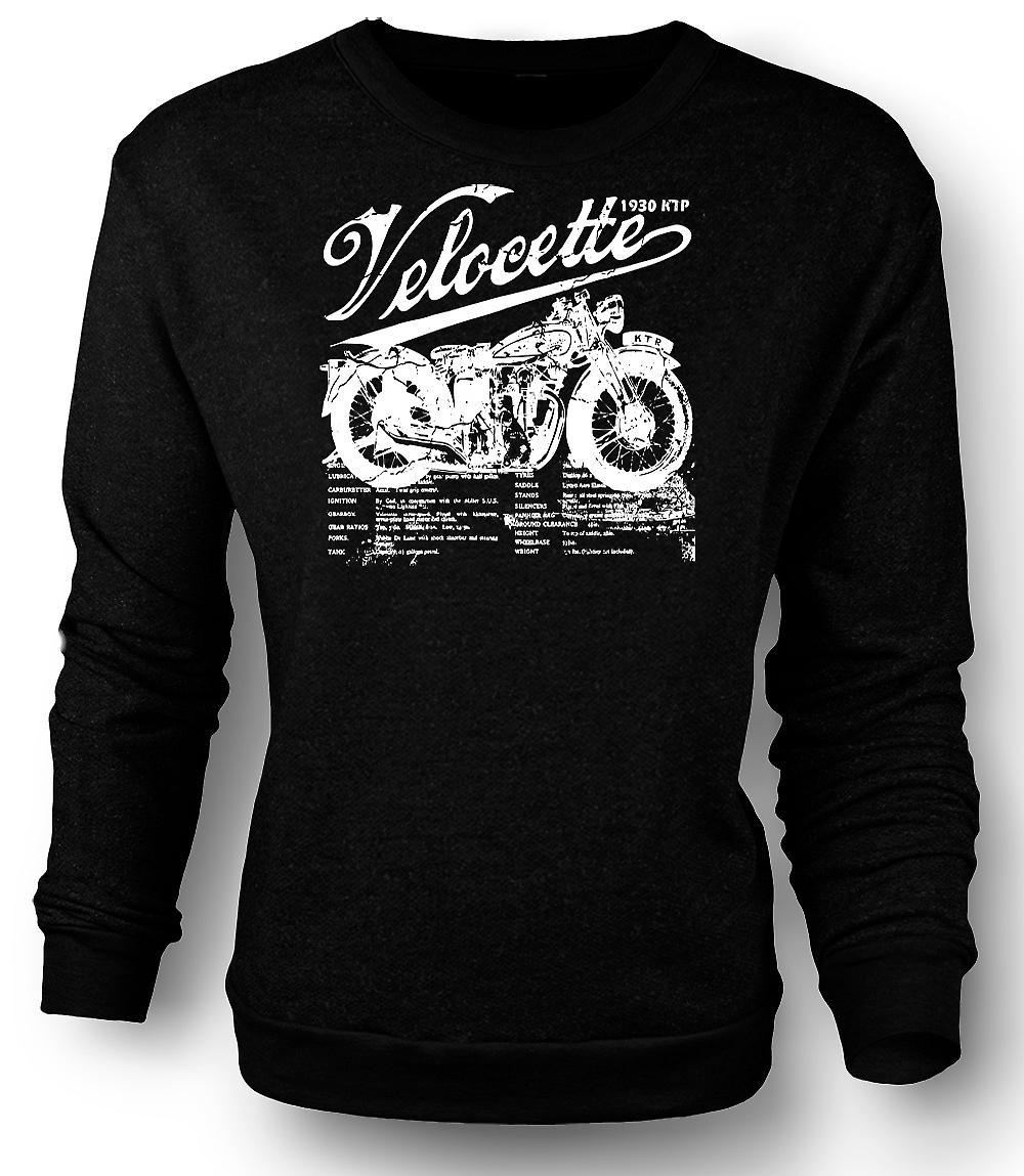 Mens Sweatshirt Velocette KTP 1930 - vélo classique