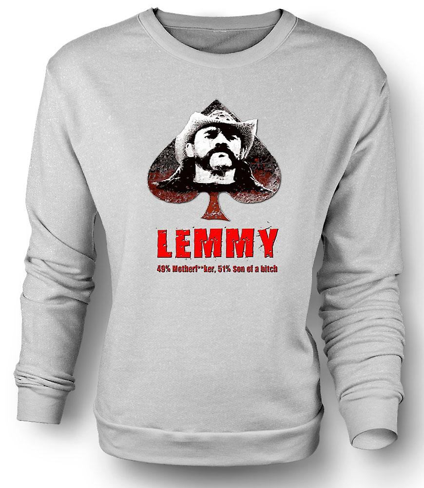 Mens Sweatshirt Lemmy - Motorhead - 49 % Mutter **