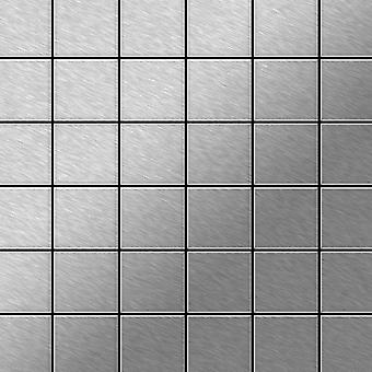 Metal mosaic Stainless Steel ALLOY Cinquanta-S-S-MB
