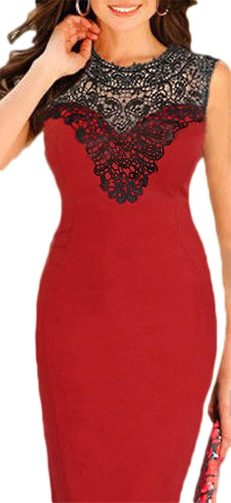 Waooh - dress with lace neckline Eibe