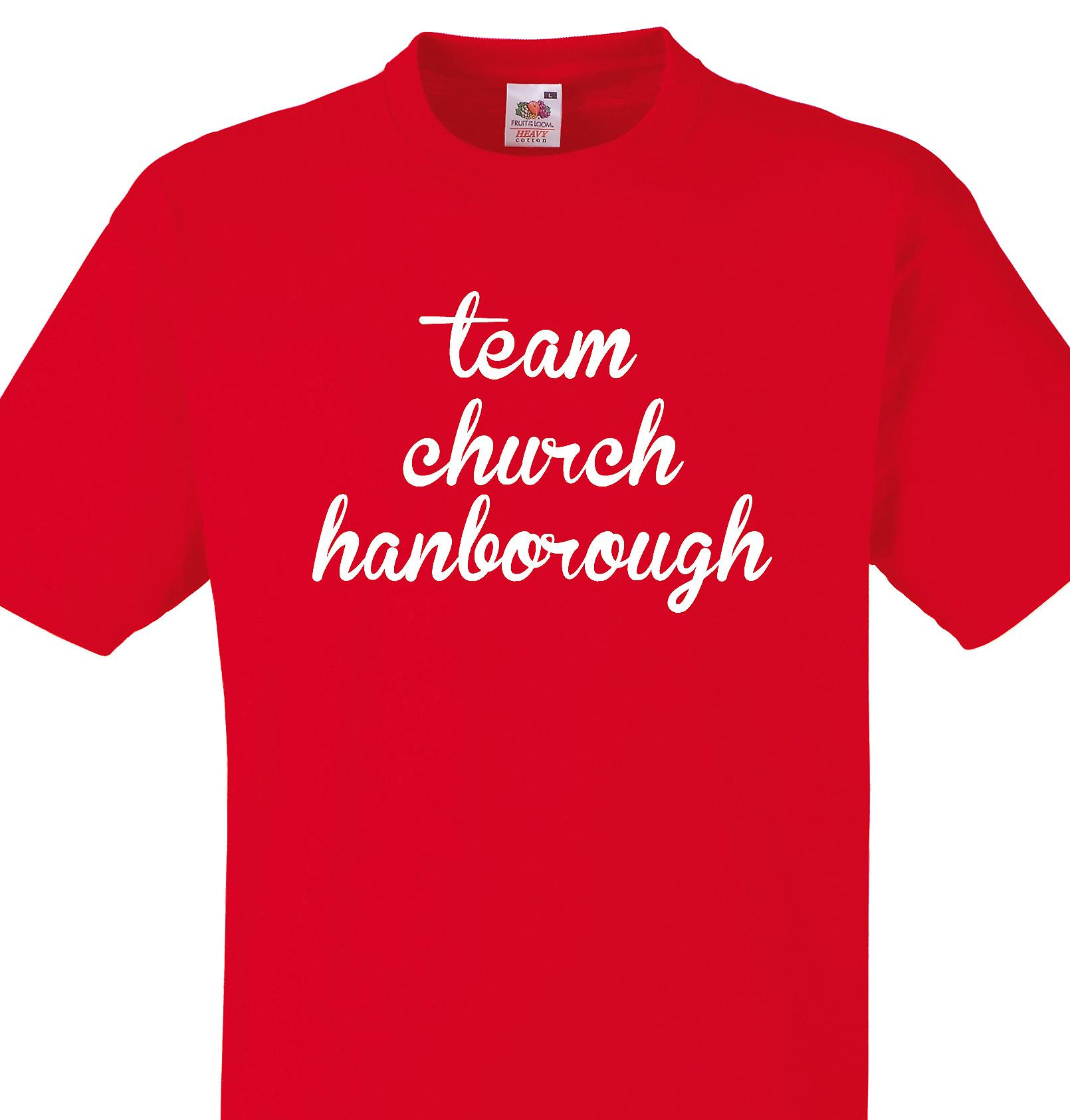 Team Church hanborough Red T shirt