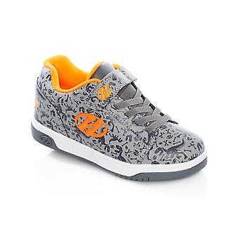 Heelys gris-Charcoal-Orange Double Up Kids deux roues chaussure