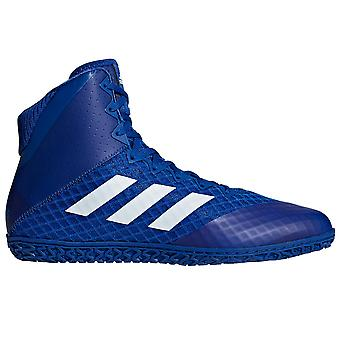 adidas Mat Wizard 4 Mens Adult Wrestling Trainer Shoe Boot Blue