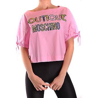 Camiseta de algodón rosa de Moschino