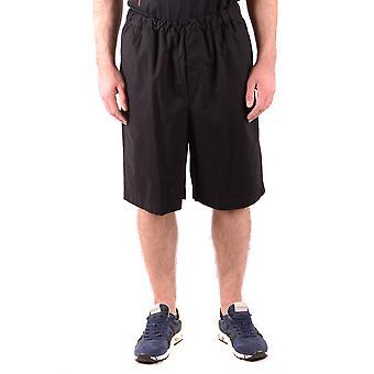 MCQ por Shorts de algodão preto de Alexander Mcqueen